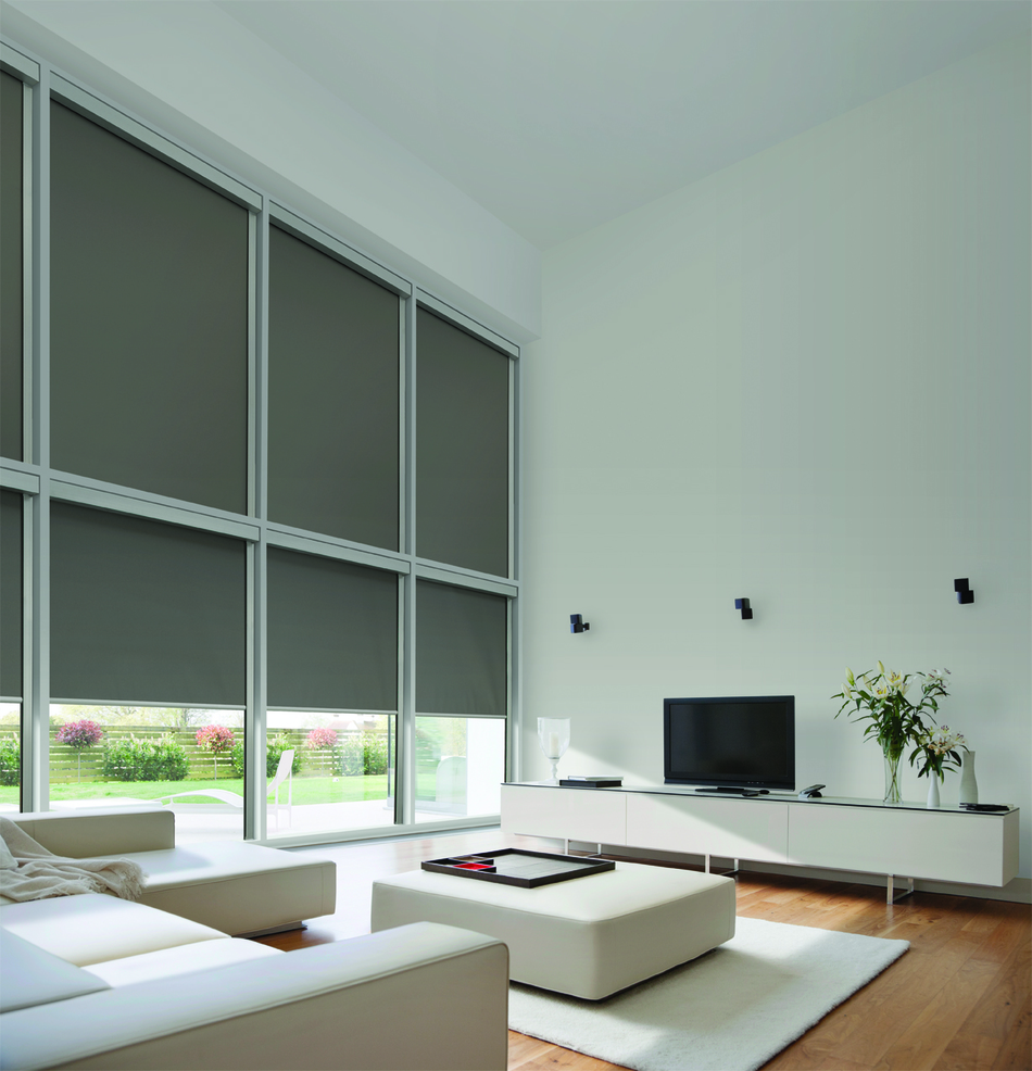 Roller Shade Motorized Blinds By Design Los Angeles